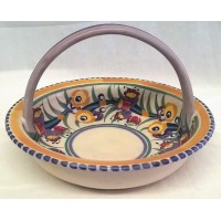 POOLE POTTERY TRADITIONAL EE PATTERN SHAPE 274 BASKET – MARIAN HEATH