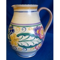 POOLE POTTERY TRADITIONAL EM PATTERN 3 PINT JUG – ANNE HATCHARD
