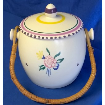 POOLE POTTERY TRADITIONAL KP PATTERN BISCUIT BARREL