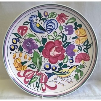 POOLE POTTERY TRADITIONAL LE PATTERN 34cm CHARGER PLATE – VERONICA HANSON