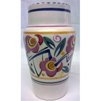 POOLE POTTERY TRADITIONAL LT PATTERN ART DECO DESIGN SHAPE 504 VASE – MARIAN HEATH - SPECIAL OFFER WAS £39.99