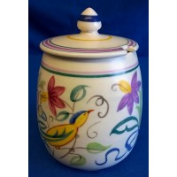 POOLE POTTERY TRADITIONAL ON PATTERN JAM POT – PAT SUMMERS