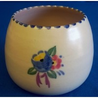 POOLE POTTERY TRADITIONAL OX PATTERN  JAM POT BASE – MARJORIE CRYER