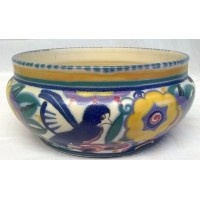POOLE POTTERY TRADITIONAL QB COMICAL BIRD PATTERN SHAPE 227 BOWL – NELLIE BISHTON