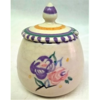 POOLE POTTERY TRADITIONAL RA PATTERN MUSTARD POT – MOLLIE SKINNER