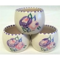 POOLE POTTERY TRADITIONAL RA PATTERN EGGCUPS – MOLLIE SKINNER (HARMAN)