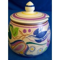 POOLE POTTERY TRADITIONAL ELABORATE TV PATTERN JAM POT