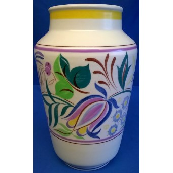 POOLE POTTERY TRADITIONAL TV PATTERN SHAPE 595 VASE