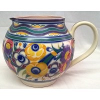 POOLE POTTERY TRADITIONAL YO PATTERN SHAPE 315 JUG – DORIS MARSHALL