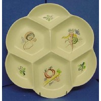 POOLE POTTERY KUB VEGETABLES PATTERN HORS D'OEVRES DISH
