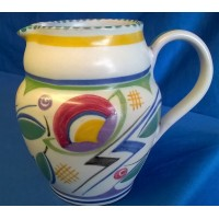 POOLE POTTERY TRADITIONAL JV PATTERN ART DECO DESIGN JUG - MARJORIE BATT