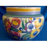 POOLE POTTERY TRADITIONAL YO FUSCHIA PATTERN PLANTER - HILDA HAMPTON