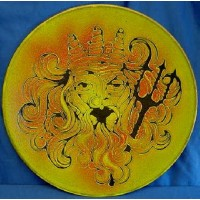 POOLE POTTERY AEGEAN NEPTUNE SEA GOD 35cm WALL DISPLAY CHARGER DISH