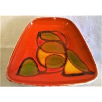 POOLE POTTERY DELPHIS TRAPEZIUM DISH – SHAPE 41 - WENDY SMITH