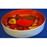 POOLE POTTERY DELPHIS 22cm SHAPE 89 FRUIT BOWL