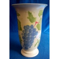 POOLE POTTERY DORSET FRUITS GRAPES PATTERN TRUMPET VASE