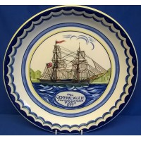 POOLE POTTERY SHIP PLATE – GENERAL WOLFE