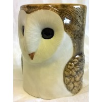 QUAIL BARN OWL PENCIL POT, DESK TIDY OR VASE