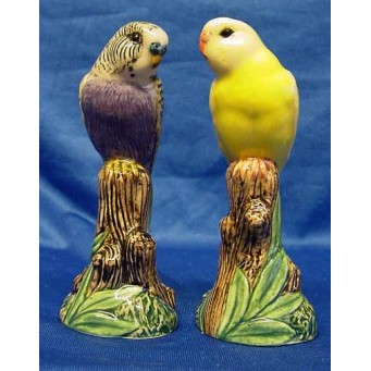QUAIL BUDGERIGAR SALT & PEPPER SET – VIOLET & YELLOW