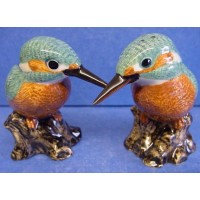 QUAIL KINGFISHER SALT & PEPPER SET
