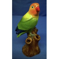 QUAIL LOVE BIRD BUD VASE – ORANGE HEADED