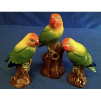 QUAIL LOVE BIRD SALT, PEPPER & BUD VASE GIFT SET
