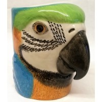QUAIL MACAW PENCIL POT, DESK TIDY OR VASE