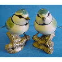 QUAIL BLUE TIT SALT & PEPPER SET