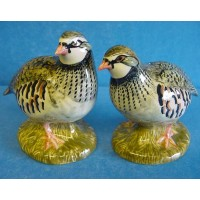 QUAIL RED LEGGED PARTRIDGE SALT & PEPPER SET