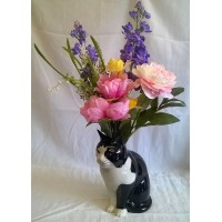 QUAIL CAT FLOWER VASE - BARNEY
