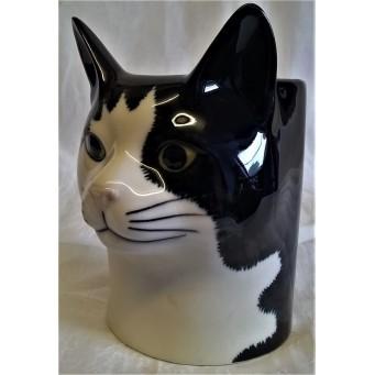 QUAIL CAT PENCIL POT, DESK TIDY OR VASE - BARNEY