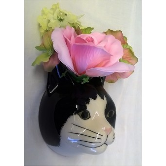 QUAIL CAT WALL VASE - BARNEY