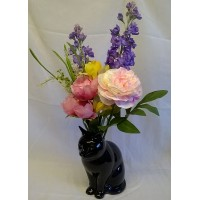 QUAIL CAT FLOWER VASE - LUCKY
