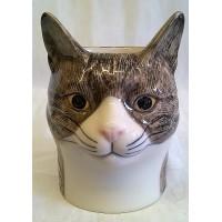 QUAIL CAT PENCIL POT, DESK TIDY OR VASE - MILLIE