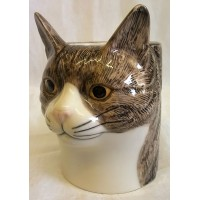 QUAIL CAT PENCIL POT, DESK TIDY OR VASE - MILLIE