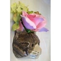 QUAIL CAT WALL VASE - MILLIE