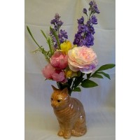 QUAIL CAT FLOWER VASE - VINCENT