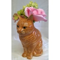 QUAIL CAT FLOWER VASE - VINCENT