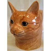 QUAIL CAT PENCIL POT, DESK TIDY OR VASE - VINCENT