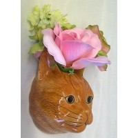 QUAIL CAT WALL VASE - VINCENT