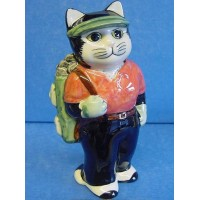 QUAIL CAT FIGURE - LADY GOLFER