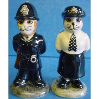 QUAIL CAT SALT & PEPPER SET - POLICE