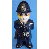 QUAIL CAT FIGURE - POLICEMAN