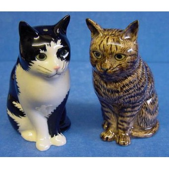 QUAIL CAT SALT & PEPPER SET - BARNEY & CLEMENTINE