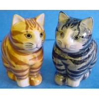 QUAIL CAT SALT & PEPPER SET - CONNIE & MINNIE