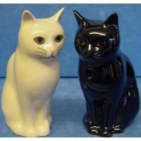 QUAIL CAT SALT & PEPPER SET - DAISY & LUCKY