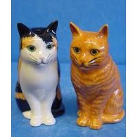 QUAIL CAT SALT & PEPPER SET - ELEANOR & VINCENT