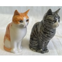 QUAIL CAT SALT & PEPPER SET - PATIENCE & SQUASH