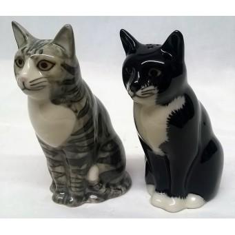 QUAIL CAT SALT & PEPPER SET - SADIE & SMARTIE