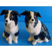 QUAIL BORDER COLLIE SALT & PEPPER SET